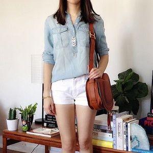 GAP white denim shorts